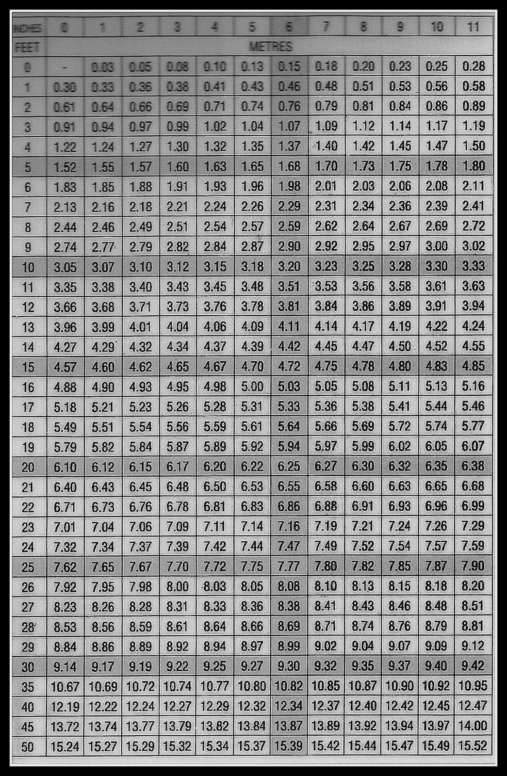 100 30 Meters To Feet 100 Feet In Meter 100 800